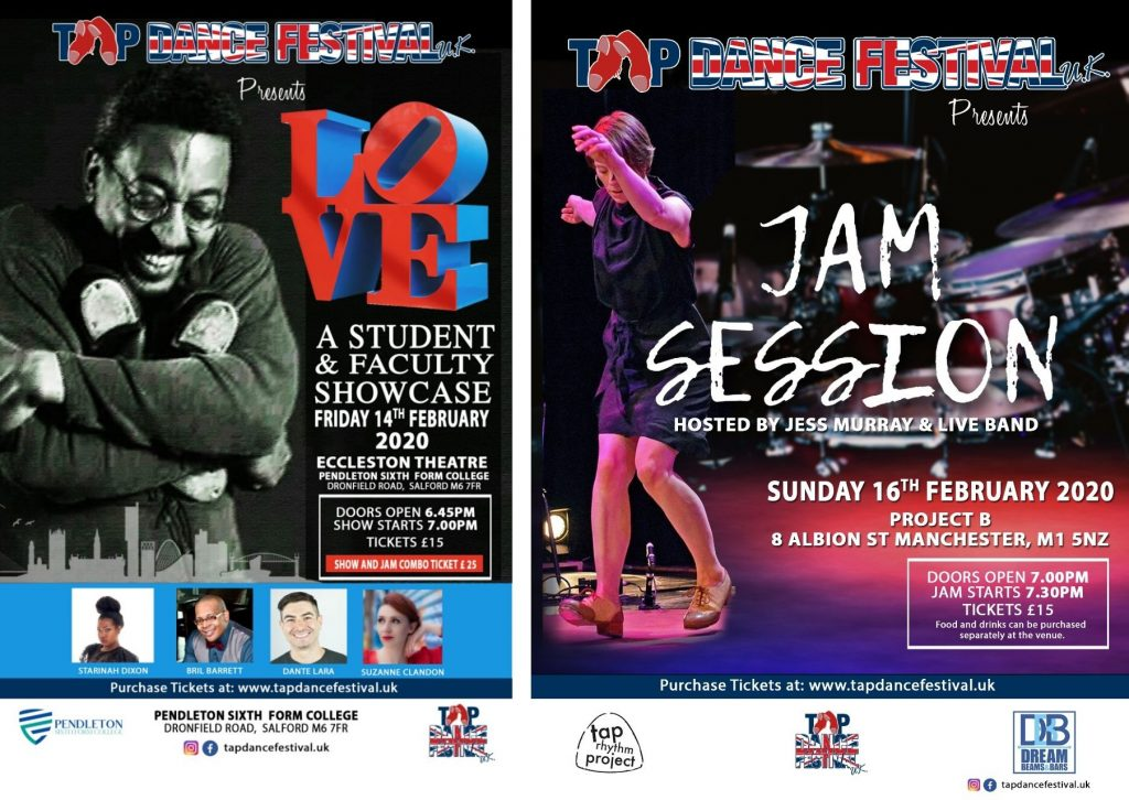 Tap Dance Festival UK Show and Tap Jam Combo Poster