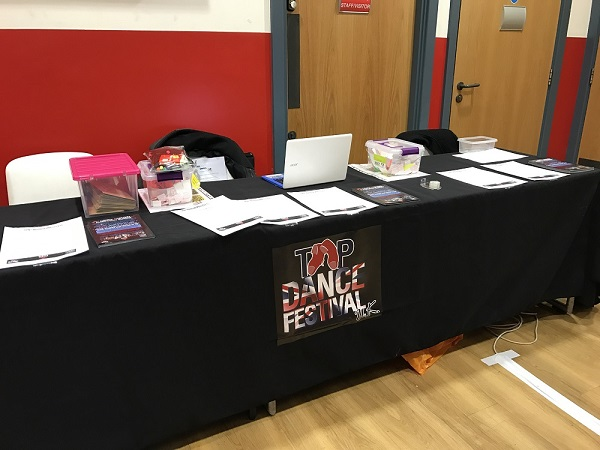 Volunteers at Tap Dance Festival UK 2017
