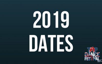 2019 Dates Released