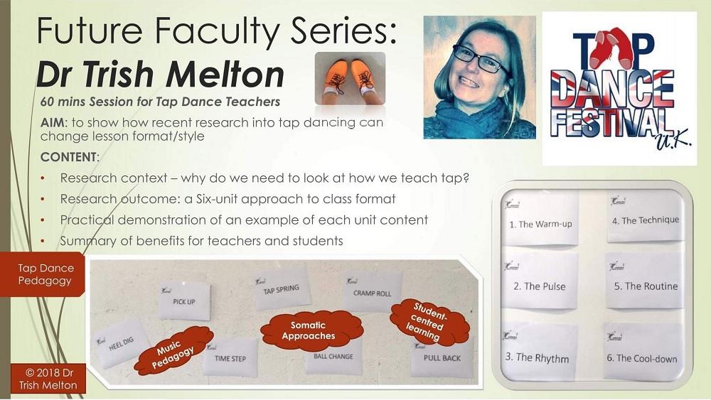 Dr Trish Melton Future Faculty Lab Series at Tap Dance Festival UK