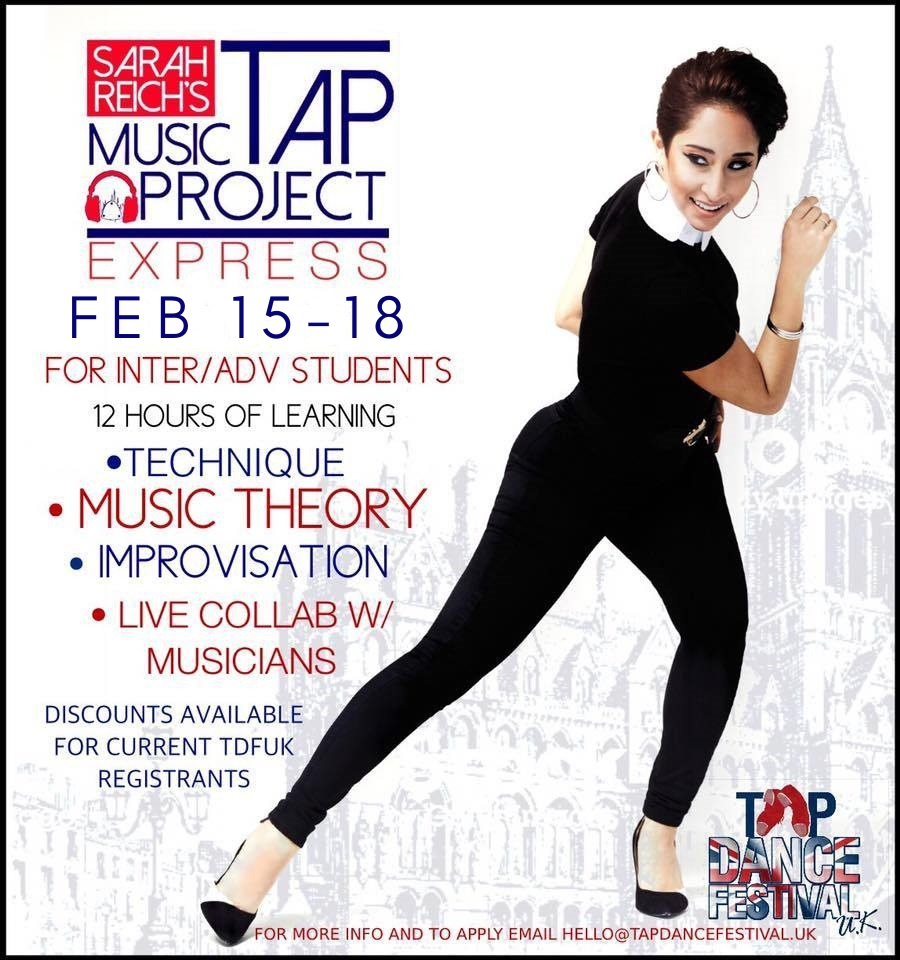 Sarah Reich Tap Music Project Express at Tap Dance Festival UK