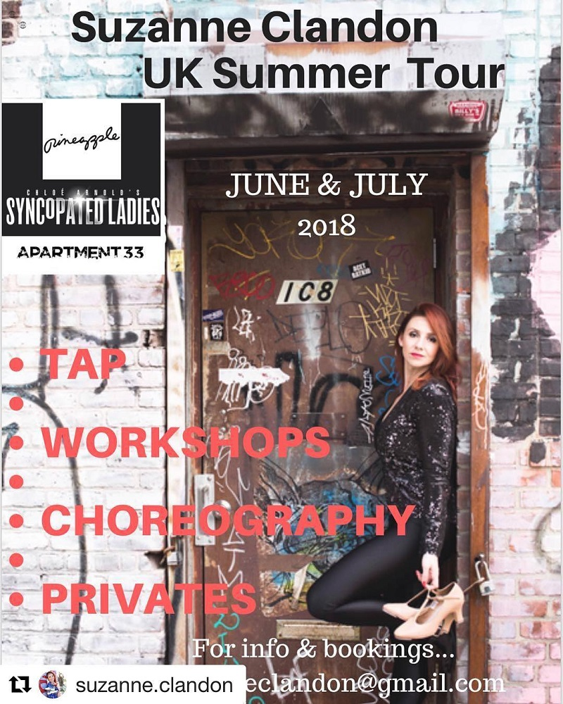 Tap Dance Festival UK TDFUK Suzanne Clandon UK Tour